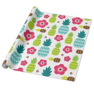 Pineapple Tropical Summer Wrapping Paper