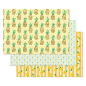 Pineapple Wrapping Paper Sheets
