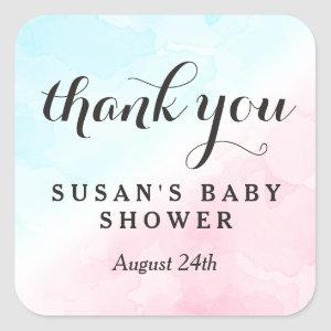 Pink and Blue Gender Reveal Baby Shower Tag