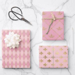 Pink and Gold Paris themed  Sheets