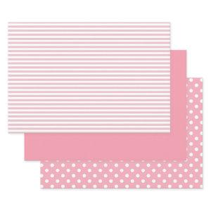 Pink and White Patterned Wrapping Paper Sheets