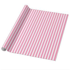 Pink and White Striped Wrapping Paper