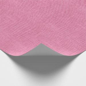 Pink Burlap Texture Wrapping Paper