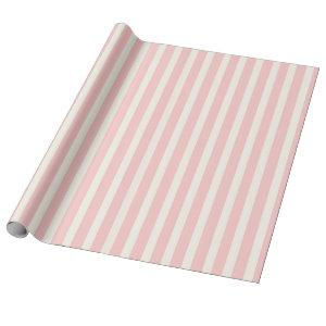 Pink Circus Stripes Wrapping Paper