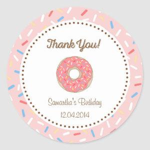Pink Donut Birthday Sticker
