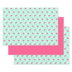 Pink Flamingo Wrapping Paper Sheets