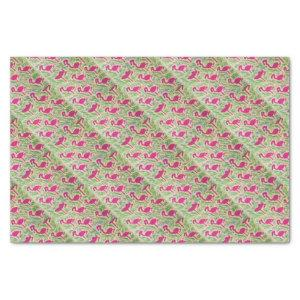 Pink Flamingos Tropical Pattern Tissue Paper