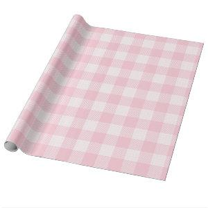 Pink Gingham For Oh Baby Collection Wrapping Paper