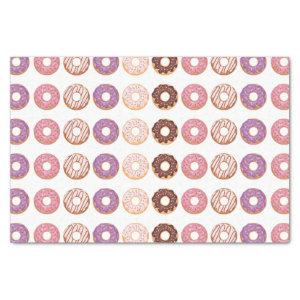 Pink Iced Donuts With Sprinkles Pattern Party Tissue Paper