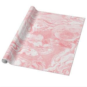 Pink Marble Wrapping Paper