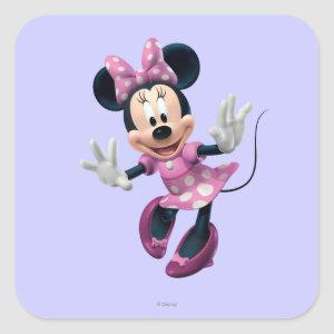 Pink Minnie | Hands Out Square Sticker