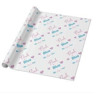 Pink or Blue Wrapping Paper