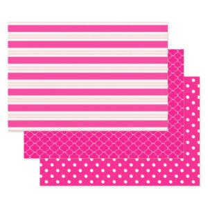 Pink Patterned Wrapping Paper Sheets