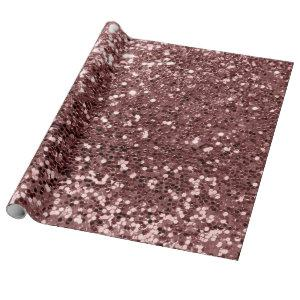 Pink Rose Gold Sequin Glitter Shiny Effect Bean Wrapping Paper