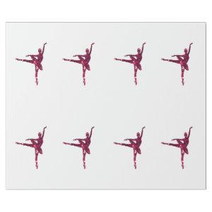 Pink Sparkly Ballerinas Wrapping Paper