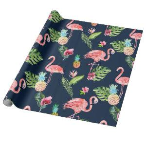 PixDezines PINK FLAMINGOS | DIY BACKGROUND Wrapping Paper