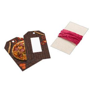 Pizza Pie Party on Brick Gift Tags