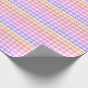 Plaid Gingham Country Pink Modern Simple Wrapping Paper