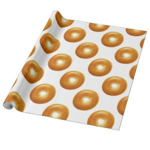 Plain Bagel Wrapping Paper