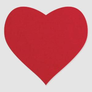 Plain Red Color Heart Sticker