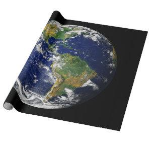 PLANET EARTH FROM SPACE Matte Wrapping Paper