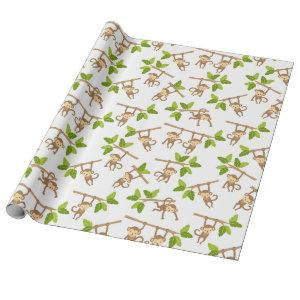 Playful Monkeys Wrapping Paper