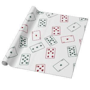 Playing cards wrapping paper