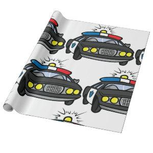 Police Car Wrapping Paper