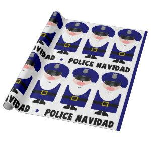 Police Navidad Wrapping Paper