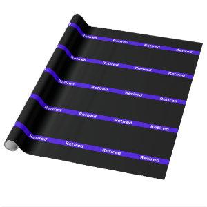 Police Retirted Thin Blue Line Wrapping Paper