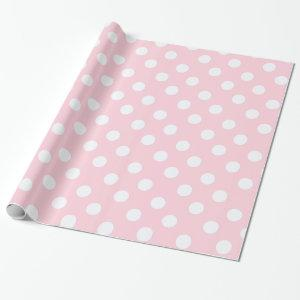 polka dots in  Pastel Pink Wrapping Paper