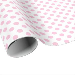 Polka Dots Pink Pastel White Small Delicate Wrapping Paper