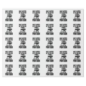 Pontoon Boat Wrapping Paper