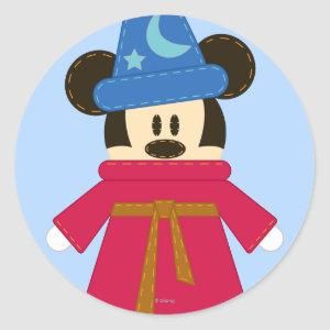 Pook-a-Looz Mickey | Sorcerer's Hat Classic Round Sticker
