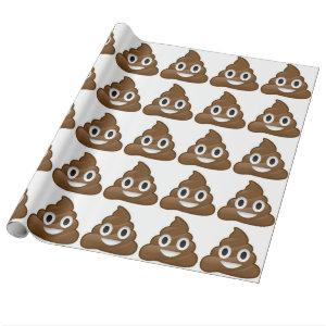 poop emoji wrapping paper