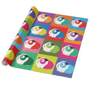 Pop Art Guinea Pigs Wrapping Paper