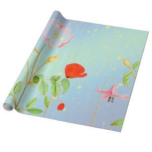 POPPIES IN A STARRY TWILIGHT Wrapping Paper
