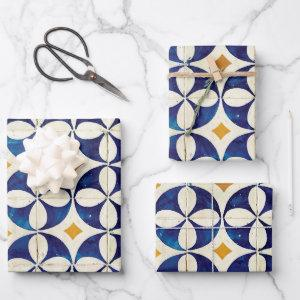 Portuguese Tiles - Azulejo Pattern Design Wrapping Paper Sheets