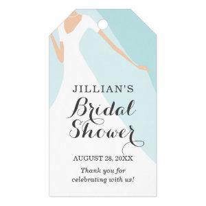 Powder Blue | Gown Bridal Shower Thank You Gift Tags