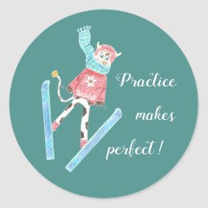 Practice makes perfect kid reward stickers