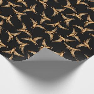 Prehistoric Flying Pterodactyls Wrapping Paper