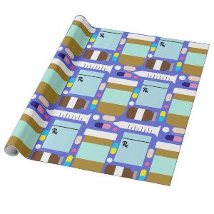 Prescription Medication Medical Collage Wrapping Paper