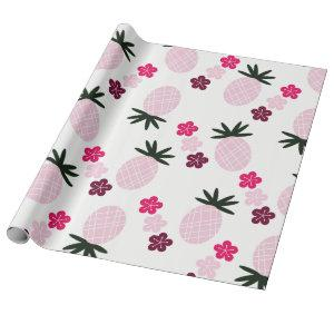 Pretty in Pink Aloha Wrapping Paper