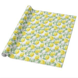 Pretty Lemon Pattern Gift Wrap / Craft Paper