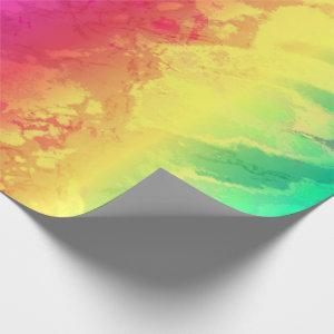 Pretty Rainbow 🌈 Marble Wrapping Paper