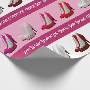 Pretty Stilettos Personalized Wrapping Paper