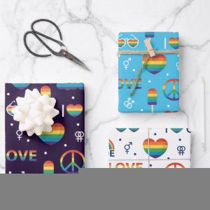 Pride LGBTQ  Wrapping Paper Set