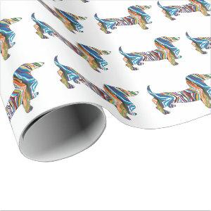 Psychedelic Dachshund Wrapping Paper