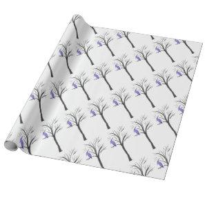 Pterodactyl In A Tree Wrapping Paper