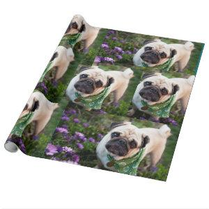 Pug Dogs Wrapping Paper